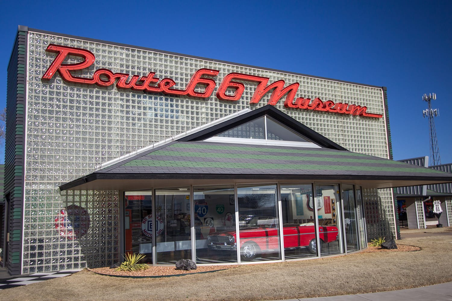 Route 66 Museum in Clinton, Oklahoma