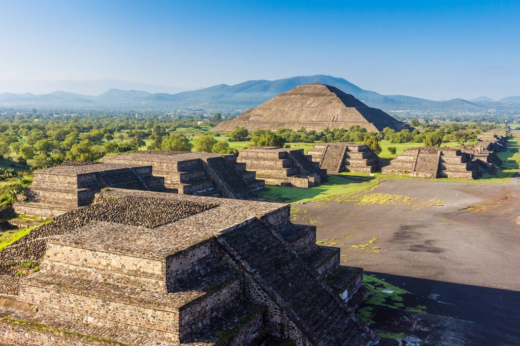 The Sun Pyramid of Teotihuacan, near Mexico City in Mexico