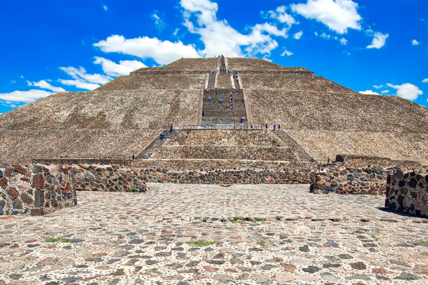 Pyramid of the Sun at Teotihuacan, near Mexico City in Mexico