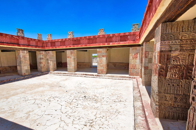 Palace of Quetzalpapalotl at Teotihuacan, near Mexico City in Mexico