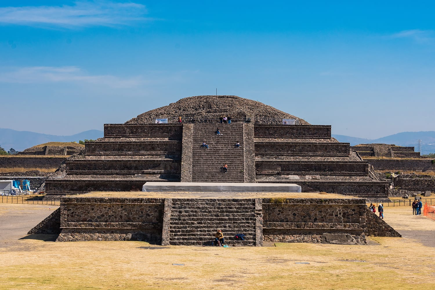 Temple of Quetzalcoatl at Teotihuacan, near Mexico City in Mexico