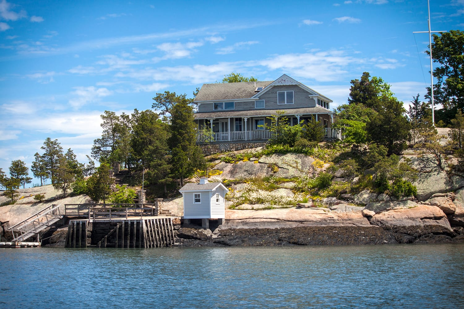 Thimble Island in Connecticut, USA