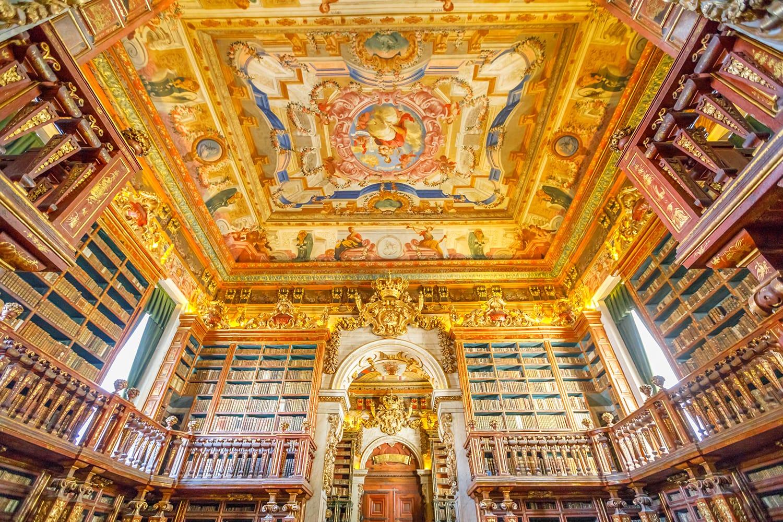 Biblioteca Joanina in Coimbra, Portugal