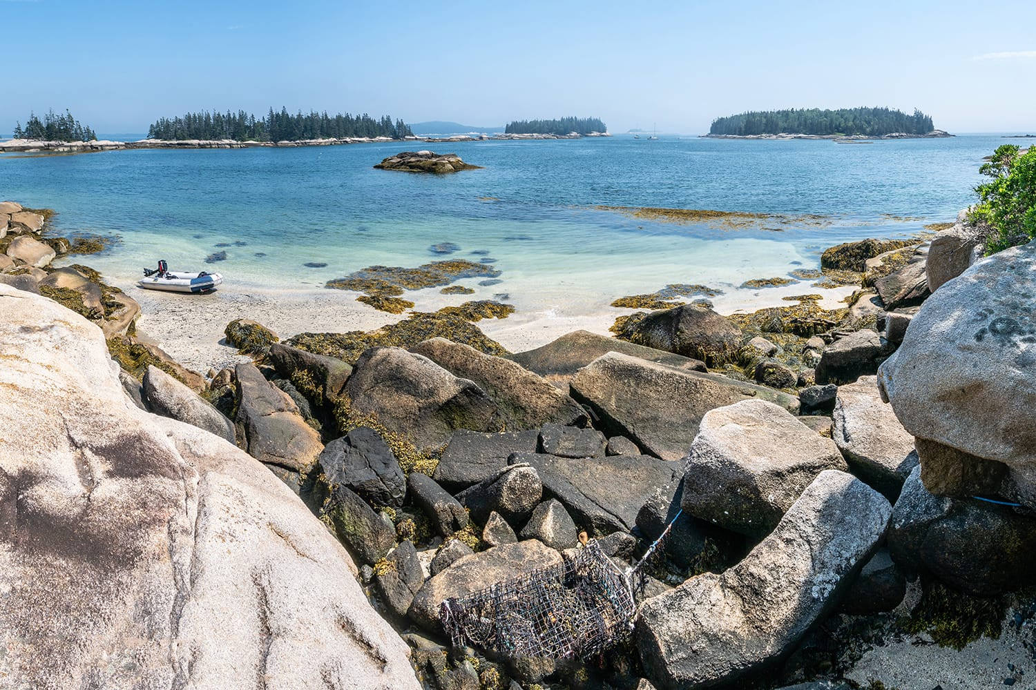 A view of the White Island archipelago from South Big Garden Island near Vinalhaven, Maine in Penobscott Bay.