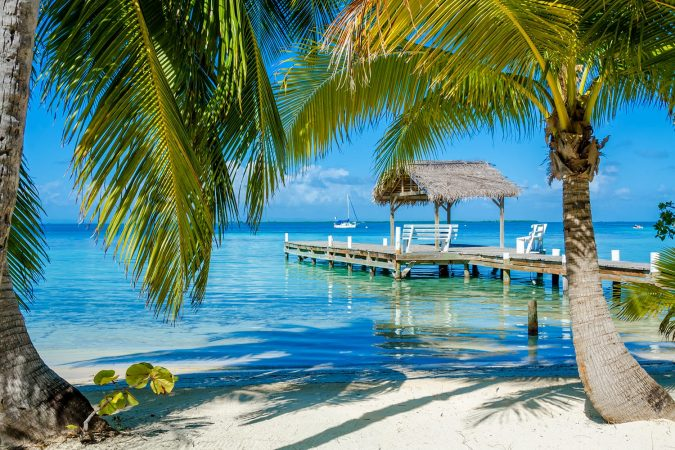 Beach in Ambergris Caye, Belize
