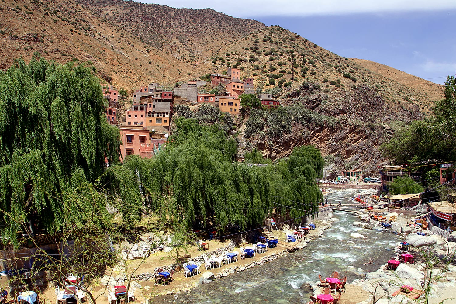 Berber village in the Ourika Valley, Morocco