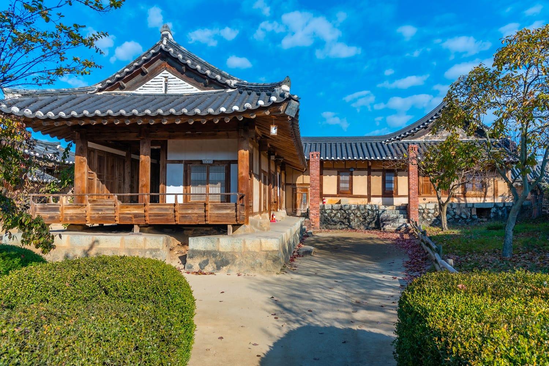 Chunghyodang mansion at Hahoe folk village in South Korea