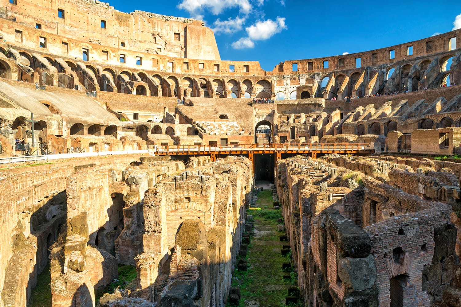 Famous arena of Colosseum (Coliseum) in Rome, Italy.