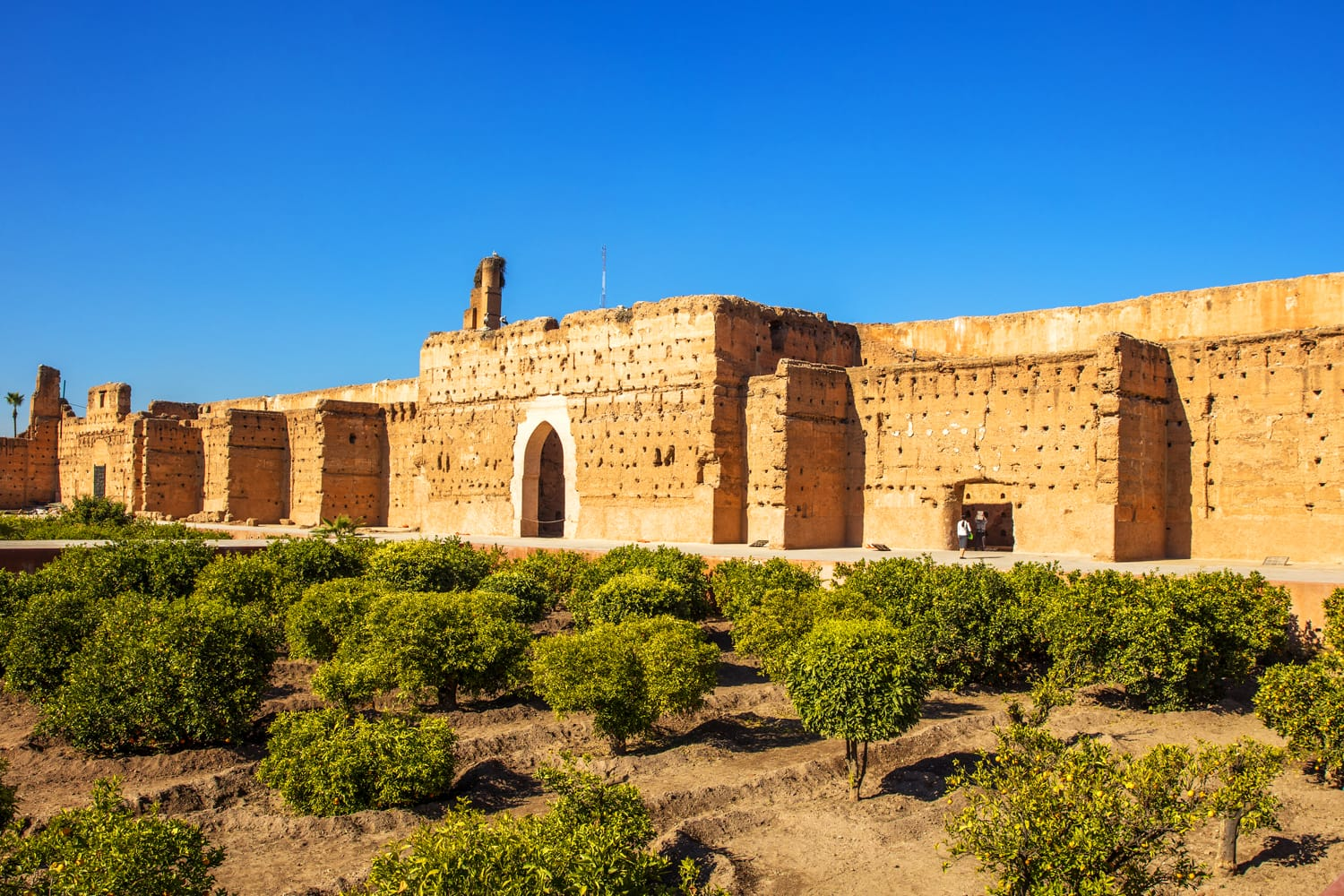 El Badi Palace is a ruined palace located in Marrakesh, Morocco