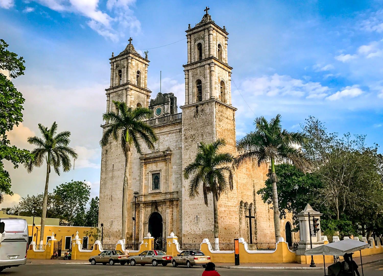 San Servacio Cathedral in Valladolid, Mexico
