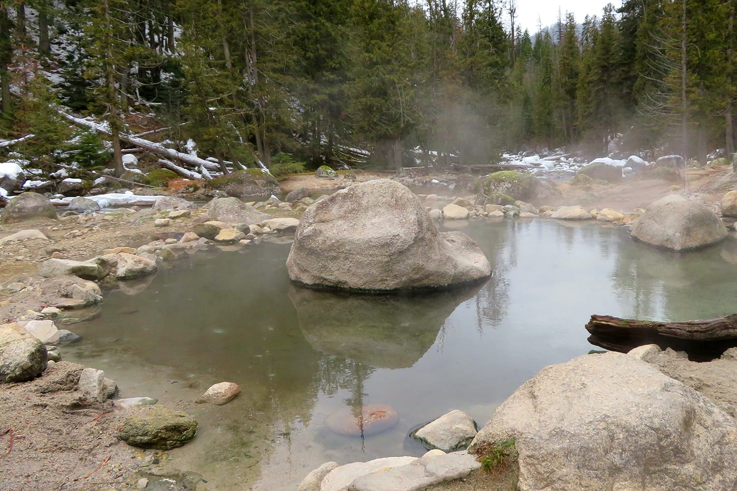 Jerry Johnson Hot Springs in Idaho, USA