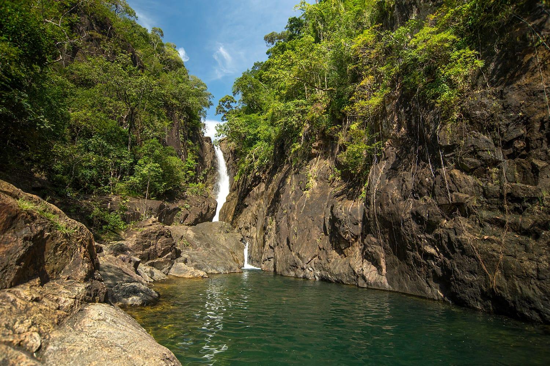 Khlong Phlu Waterfall in the Mu Koh Chang National Park, Thailand