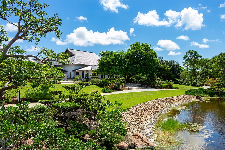 The Morikami Japanese Gardens in Delray Beach, Florida, USA