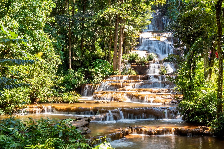Namtok Pha Charoen Waterfall in Thailand