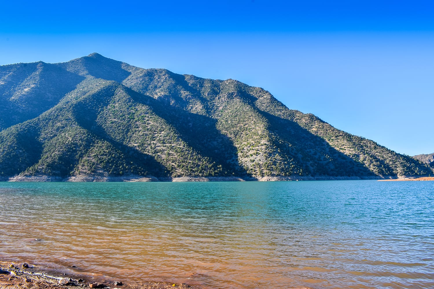Panoramic View of Ouirgane Lake in Morocco