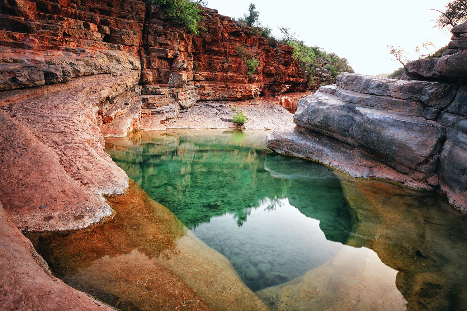 Natural pool at the Paradise Valley in Morocco