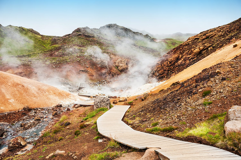 Seltun geothermal area, Krysuvik, Reykjanes peninsula in Iceland