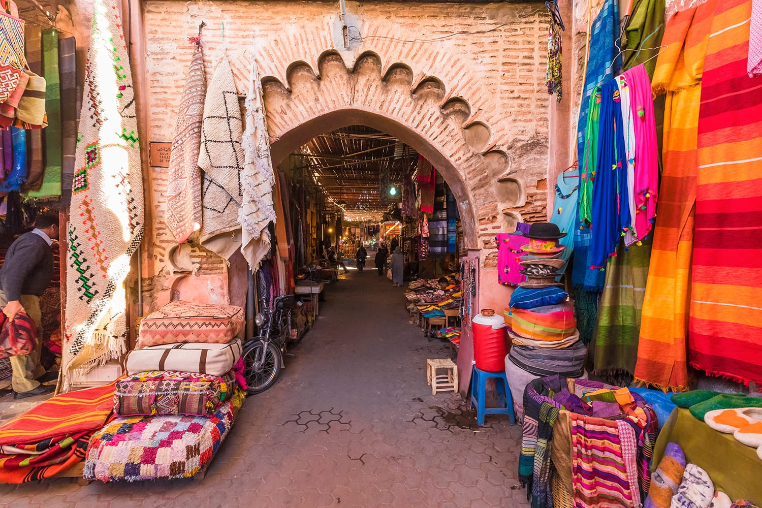 Souvenirs at the souk in Marrakech, Morocco