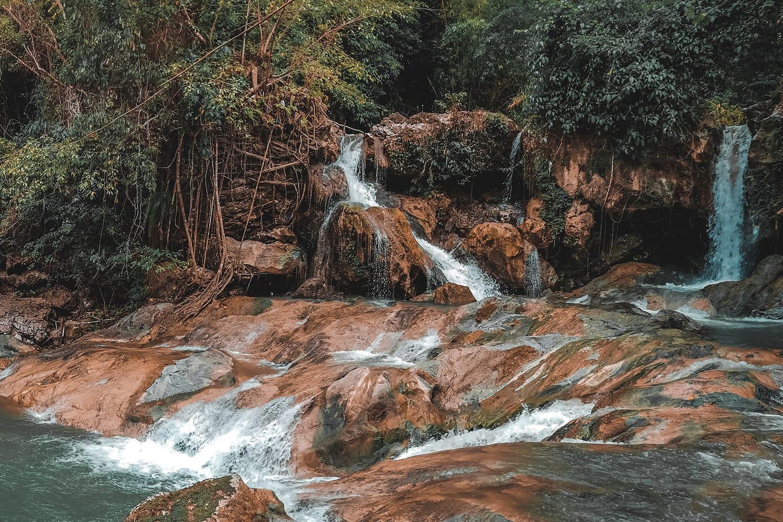 Tinubdan Falls in Catmon, Cebu, Philippines