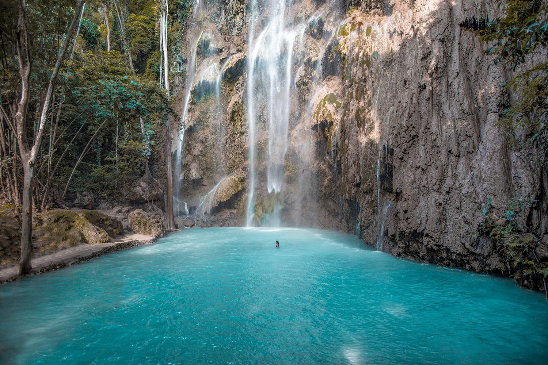 Tumalog waterfall on Cebu island, Philippines