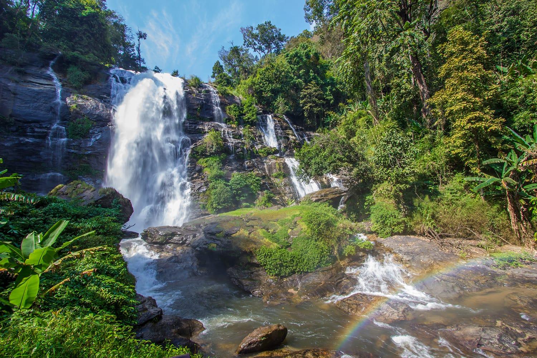 Wachirathan waterfall in Chiang Mai Province, Thailand