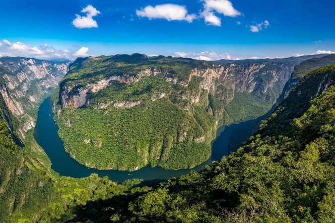 Aerial view of Sumidero Canyon - Chiapas, Mexico