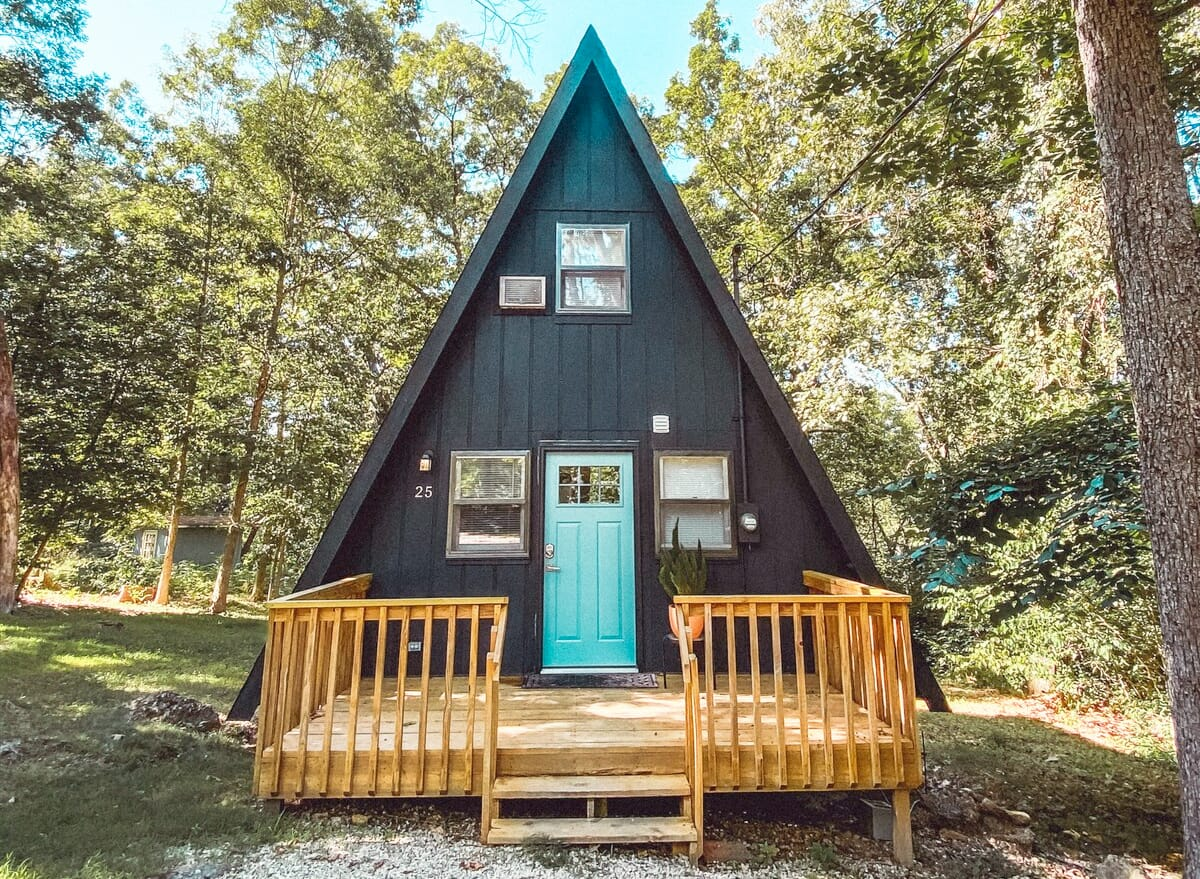 Quaint Scandinavian A-Frame Cabin