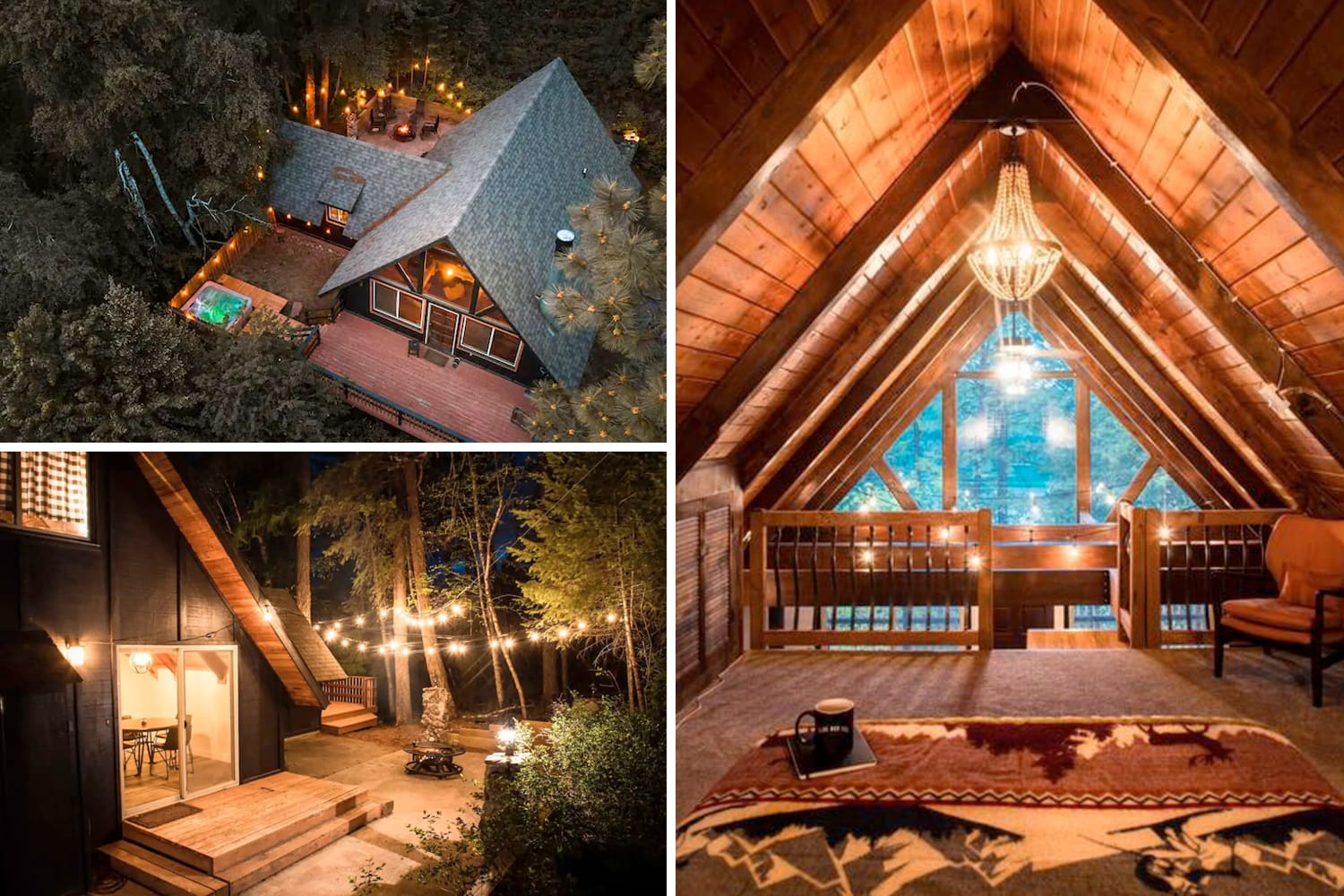 Classic A-Frame Airbnb Cabin in Whitefish