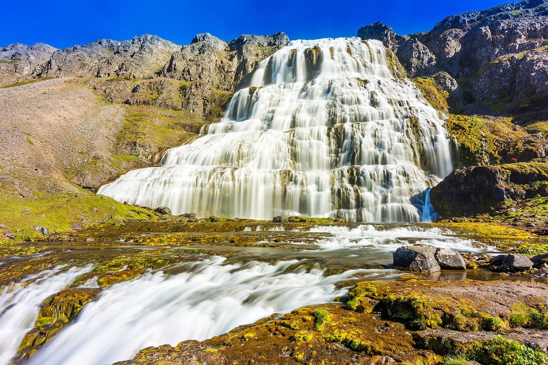 Dynjandi or Fjallfoss waterfall, Westfjord, Iceland