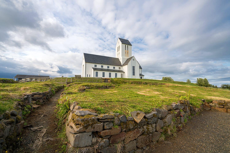Episcopal cathedral in Skalholt village, Golden Circle, Southern Iceland