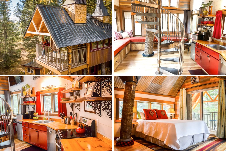 Meadowlark Treehouse in Whitefish, Montana
