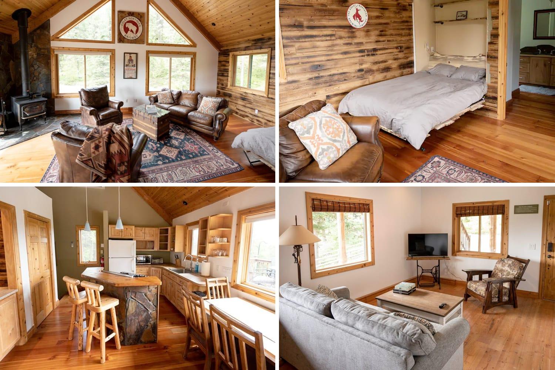 Moonlight Ridge Airbnb Cabin in Whitefish, Montana, USA