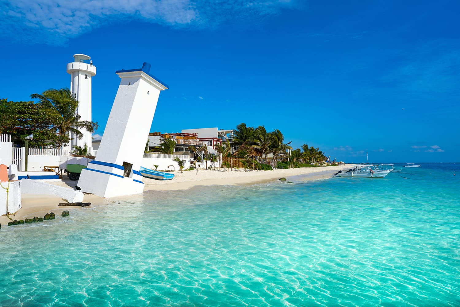 Lighthouse at Puerto Morelos, Mexico