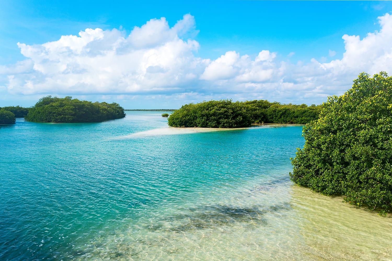 Sian Ka'an Biosphere Reserve in Quintana Roo, Mexico