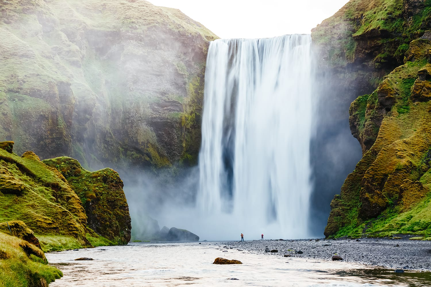 amous Skogafoss waterfall in Iceland