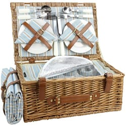 HappyPicnic Wicker Picnic Basket Set