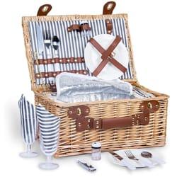 SatisInside Insulated Wicker Picnic Basket Set