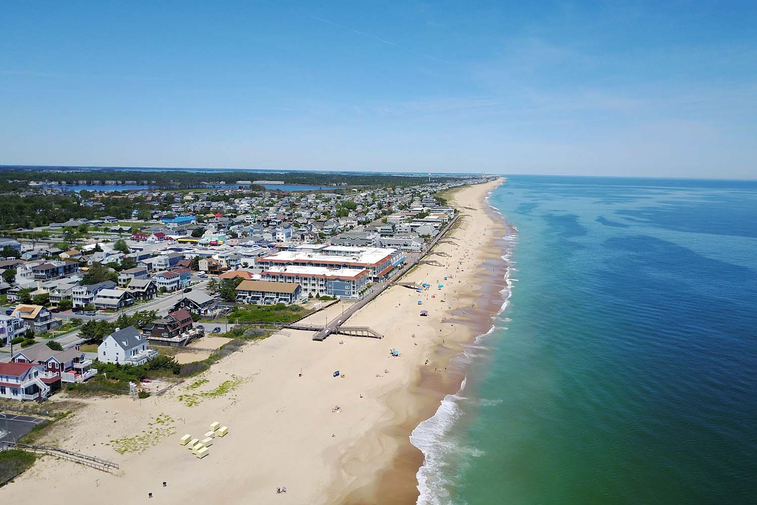 Aerial view of Bethany Beach in Delaware, USA