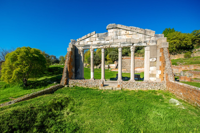 Temple ruins in Ancient Apollonia in Albania