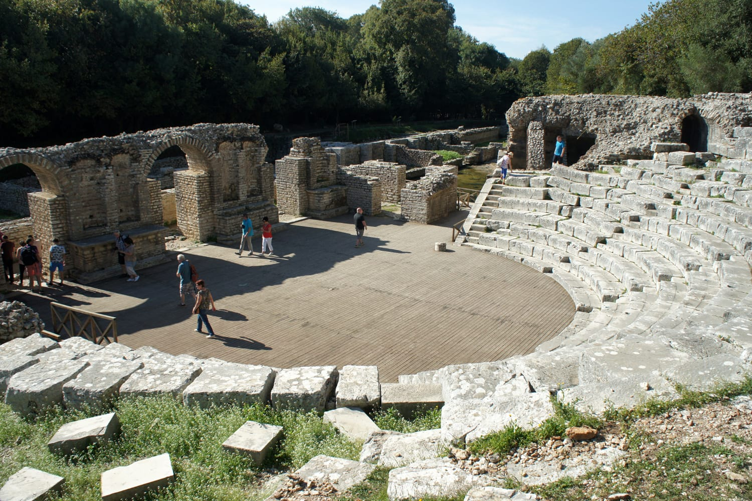 Ancient Theatre in Butrint National Park, Albania