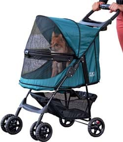 Pet Gear No-Zip Happy Trails Pet Stroller
