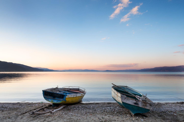 Lake in Pogradec, Albania