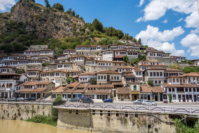 Skyline of Berat in Albania