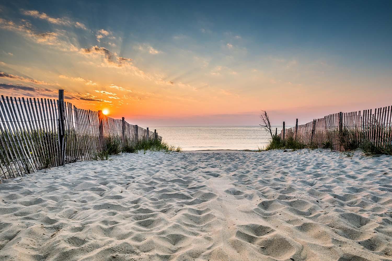 Sunrise at Bethany Beach in Delaware, USA