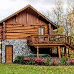 Beautiful log cabin in Minnesota, USA