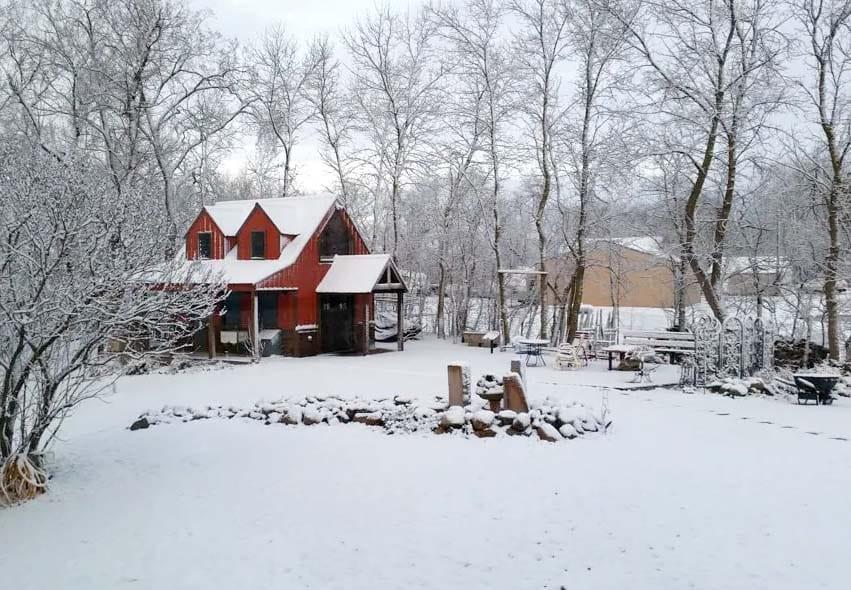 Red Cabin in Minnesota, USA