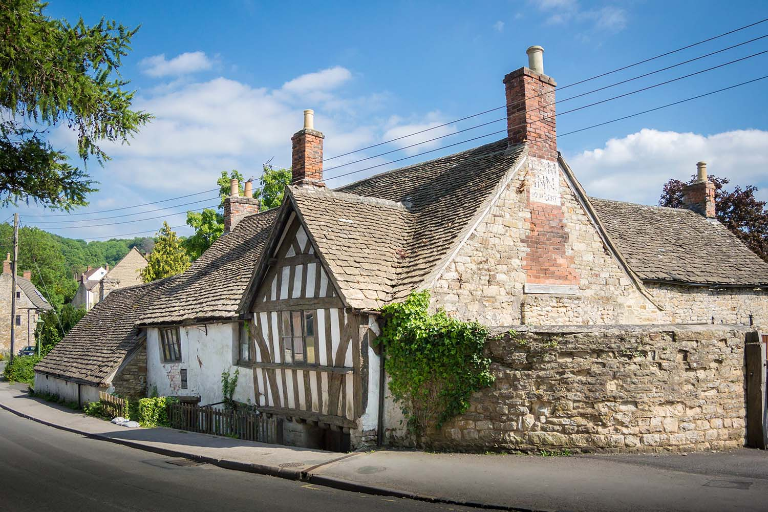 Ancient Ram Inn, former 12th century public house in the country, Wotton-under-Edge, Gloucestershire, UK.