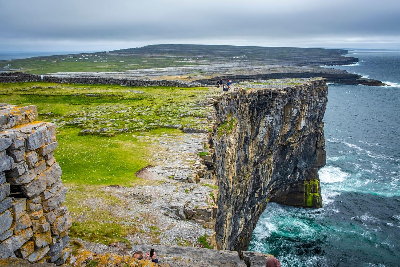 cliffs at Dún Aonghasa on Inshmore, Aran Islands, Co Galway, Ireland