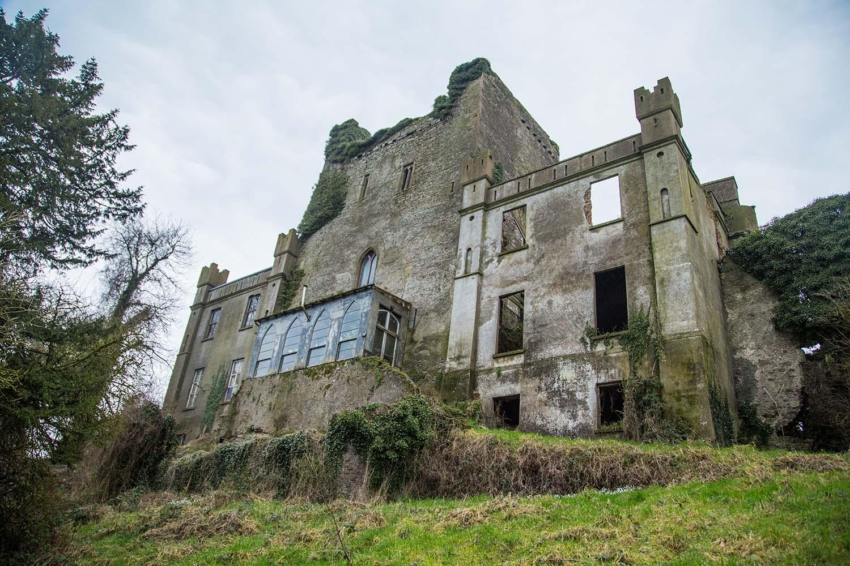 Backyard of Leap Castle, Co Offaly, Ireland