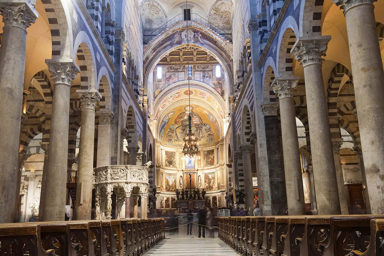 Interior of the Duomo in Pisa, Italy